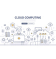 Cloud Computing Doodle Concept vector image vector image