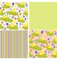 Cute collection of Easter patterns vector image vector image