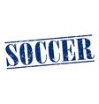 soccer blue grunge vintage stamp isolated on white vector image