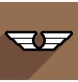 stylish wings of an eagle vector image