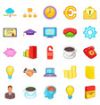 accounting icons set cartoon style vector image