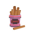 cinnamon spice brown roll sticks ingredient of vector image