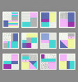 collection of universal cards vector image