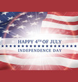 happy 4th of july independence day usa vector image