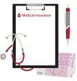 Medical insurance concept vector image