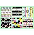 Set of 6 Cute different seamless patterns vector image