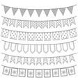 set of garlands vector image