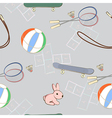 Sporting equipment with a little pink rabbit vector image