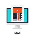 news flat concept vector image