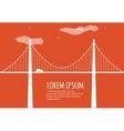 Bridge Minimalistic Banner vector image