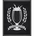 Cold beer served here poster Pub emblem on vector image