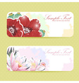 Beautiful flower sticker postcards vector image vector image