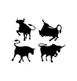 Cattle Silhouettes vector image