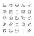 Web and User Interface Outline Icons 14 vector image