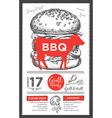 Barbecue party invitation BBQ template menu design vector image vector image