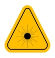 Warning icon of Laser light in yellow triangle vector image