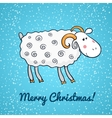 Beautiful cute sheep symbol of the new year vector image