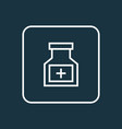bottle outline symbol premium quality isolated vector image