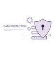 data protection security online business concept vector image