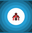 isolated farmhouse flat icon barn element vector image