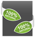 left and right side signs 100 natural vector image