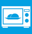 microwave icon white vector image