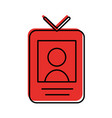 safety card press icon vector image