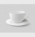 White ceramic cup realistic cup on vector image