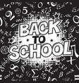 back to school black and white comic retro vector image
