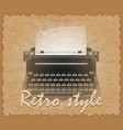 retro style poster old typewriter vector image vector image