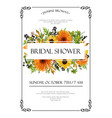 bridal shower autumn invitation card design with vector image