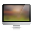 Computer monitor with abstract background on vector image
