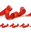 Red festive ribbon vector image vector image