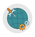 Global technical support vector image vector image