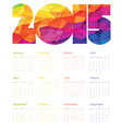 Colorful calendar 2015 Design vector image