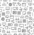 Different line style icons seamless pattern vector image