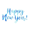 hand drawn isolated text Happy New Year in vector image