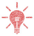 light bulb fabric textured icon vector image