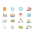 office work and management icons vector image