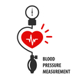 Blood pressure measurement icon - heart vector image