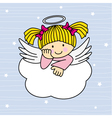 Angel wings on a cloud vector image vector image