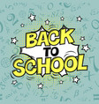 back to school formulas background comic retro vector image