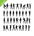 Sexy women silhouettes set 16 vector image