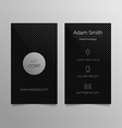 Business card template - dark sleek design vector image