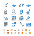 website navigation and computer icons vector image vector image