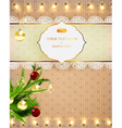 Christmas Background with Fairy Lights vector image