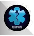 Medical healthcare round icon vector image