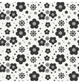 Monochrome abstract seamless floral pattern vector image vector image
