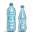 bottled water vector image