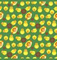 easter cartoon seamless pattern vector image